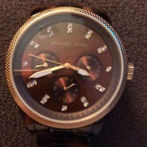Michael Kors women's tortoise shell watch